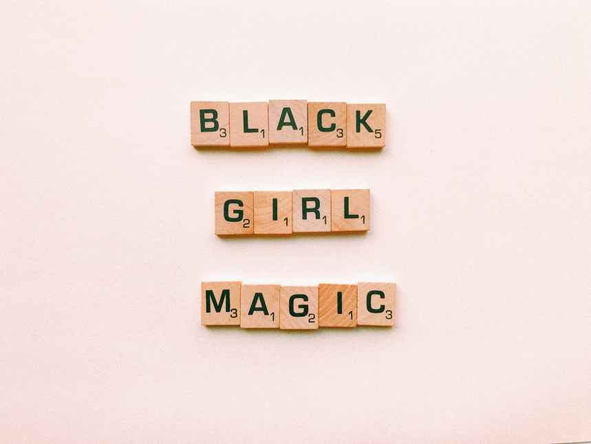black girl magic text decor